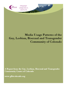 Media Usage Patterns of the Gay, Lesbian, Bisexual, and Transgender Community of Colorado