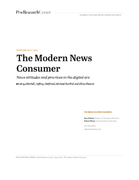 The Modern News Consumer: News Attitudes and Practices in the Digital Era