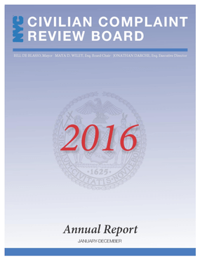 CCRB Annual Report 2016