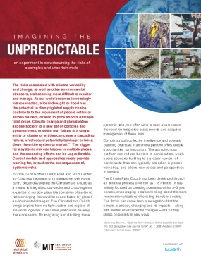 Imagining the Unpredictable: An Experiment in Crowdsourcing the Risks of a Complex and Uncertain World