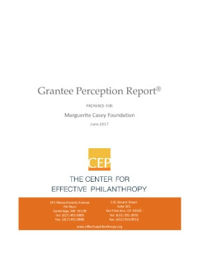 Grantee Perception Report: Marguerite Casey Foundation