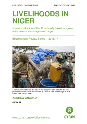 Livelihoods in Niger: Impact Evaluation of the Community Based Integrated Water Management Project