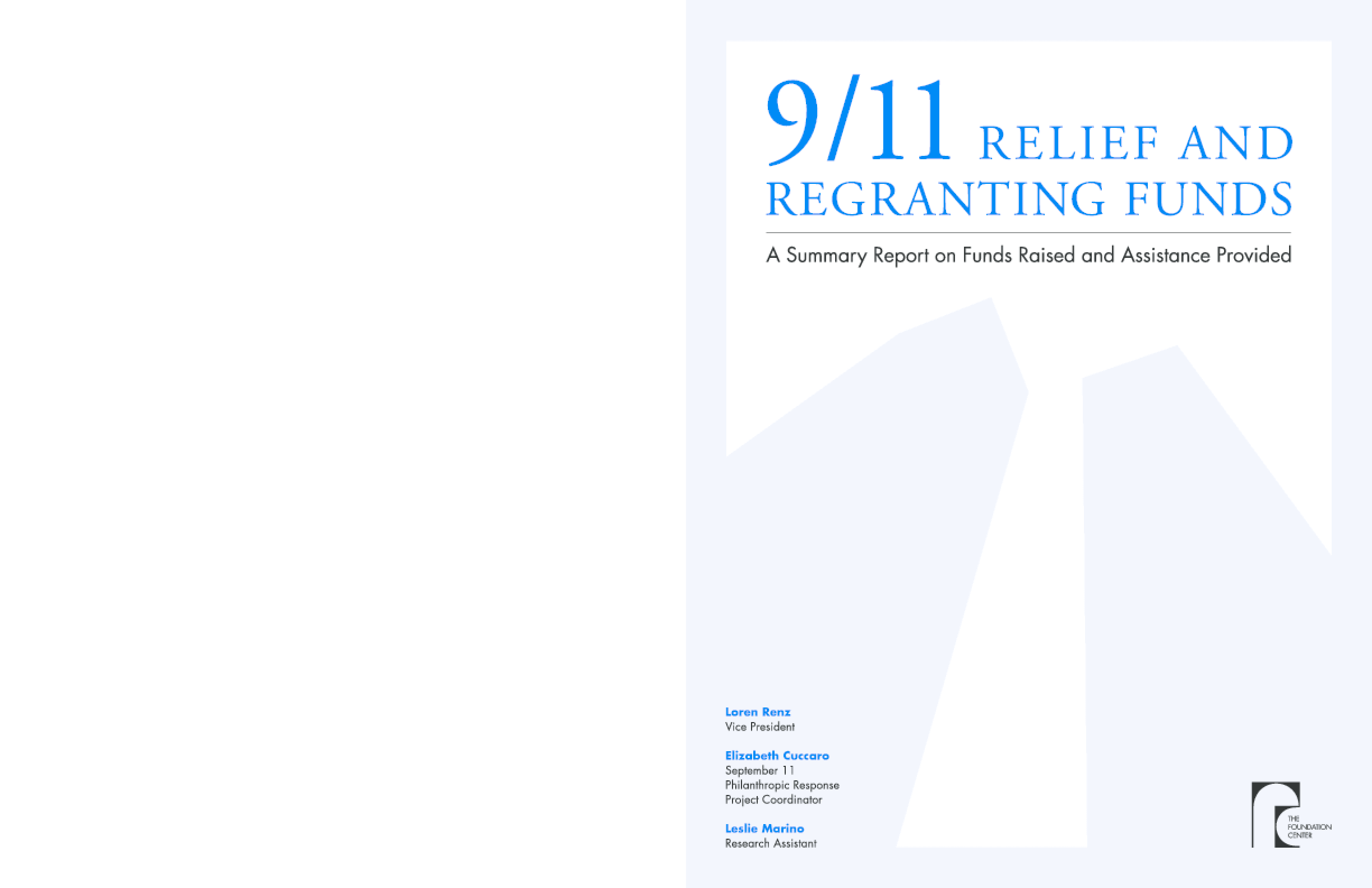 9/11 Relief and Regranting Funds
