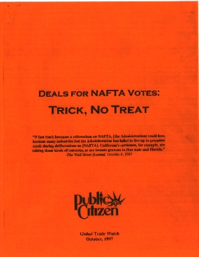 Deals for NAFTA Votes: Trick, No Treat