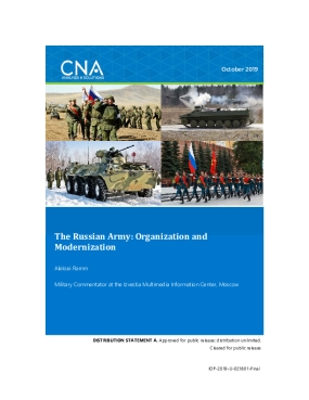 The Russian Army: Organization and Modernization