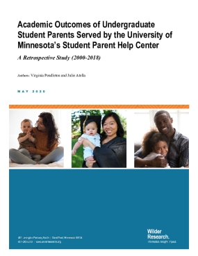 Academic Outcomes of Undergraduate Student Parents Served by the University of Minnesota's Student Parent Help Center: A Retrospective Study (2000-2018)
