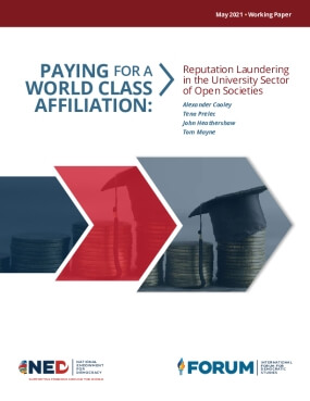 PAYING FOR A WORLD CLASS AFFILIATION:  Reputation Laundering in the University Sector of Open Societies